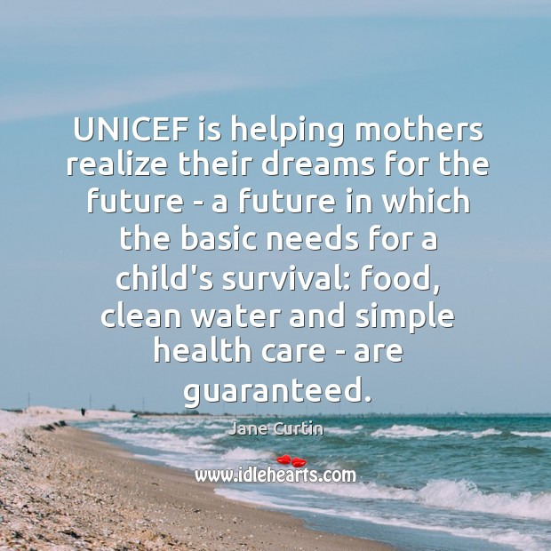 UNICEF is helping mothers realize their dreams for the future – a Image