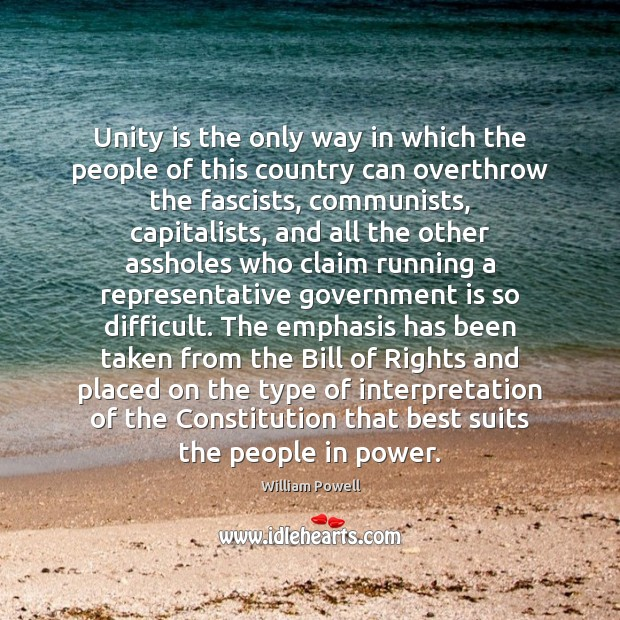 Unity is the only way in which the people of this country Image