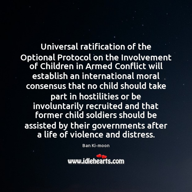 Image, Universal ratification of the Optional Protocol on the Involvement of Children in