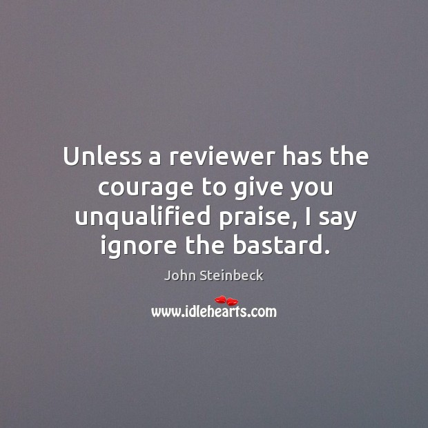 Unless a reviewer has the courage to give you unqualified praise, I say ignore the bastard. Image