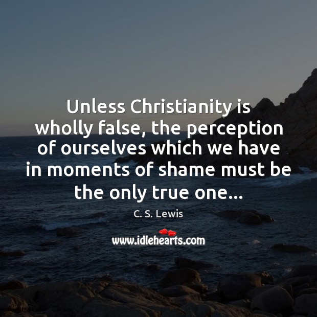 Image, Unless Christianity is wholly false, the perception of ourselves which we have