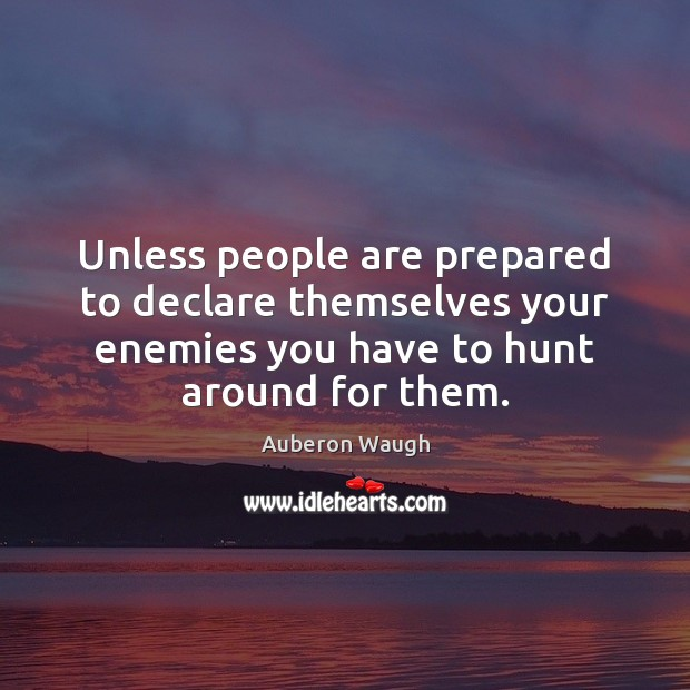 Image, Unless people are prepared to declare themselves your enemies you have to
