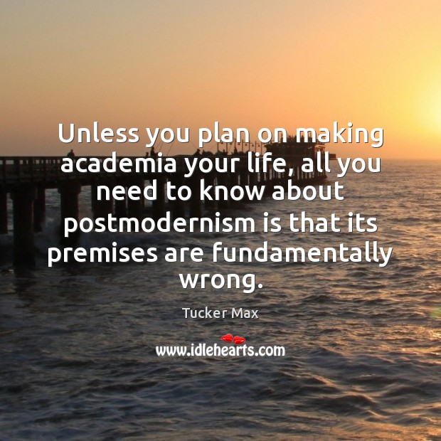 Image, Unless you plan on making academia your life, all you need to