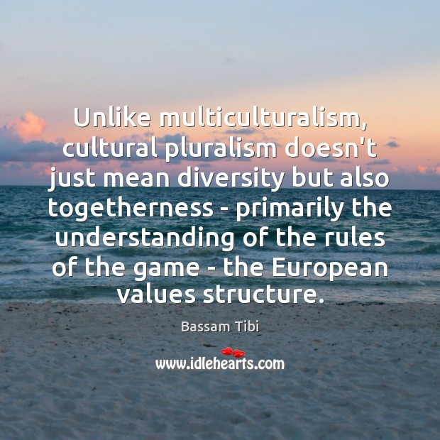 Image, Unlike multiculturalism, cultural pluralism doesn't just mean diversity but also togetherness –