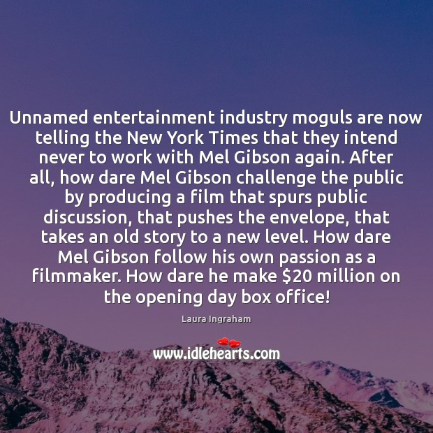 Unnamed entertainment industry moguls are now telling the New York Times that Image