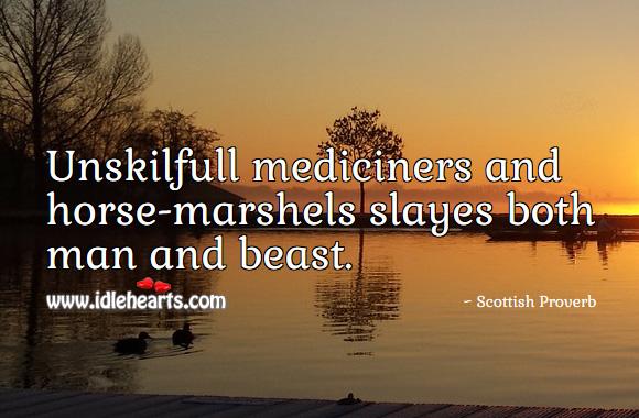 Image, Unskilfull mediciners and horse-marshels slayes both man and beast.