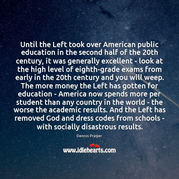 Image, Until the Left took over American public education in the second half