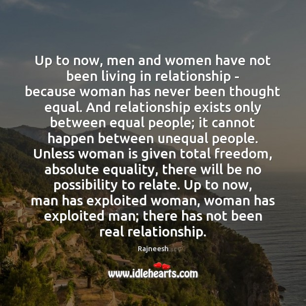 Image, Up to now, men and women have not been living in relationship