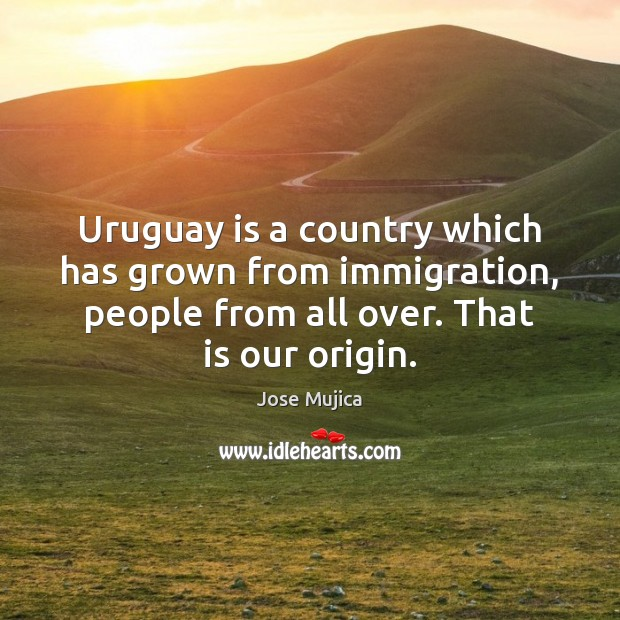 Uruguay is a country which has grown from immigration, people from all Image