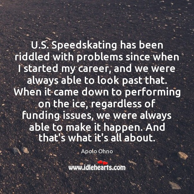 U.S. Speedskating has been riddled with problems since when I started Image