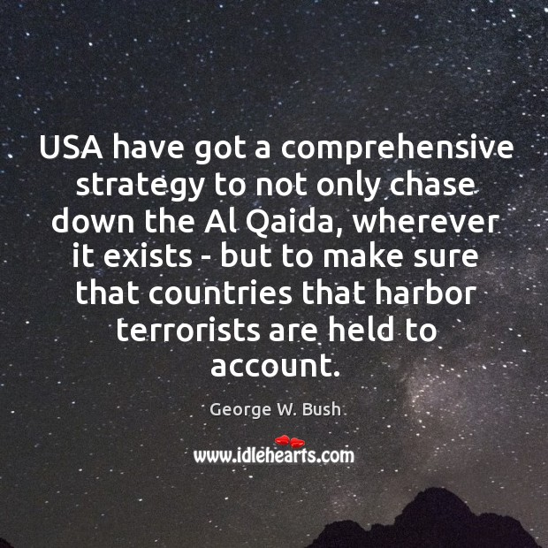 Image, USA have got a comprehensive strategy to not only chase down the