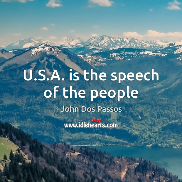U.S.A. is the speech of the people Image