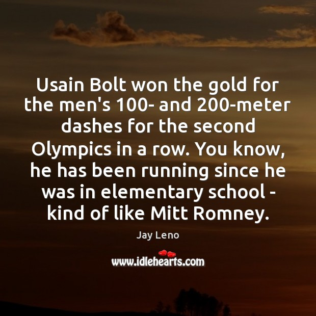 Image, Usain Bolt won the gold for the men's 100- and 200-meter dashes