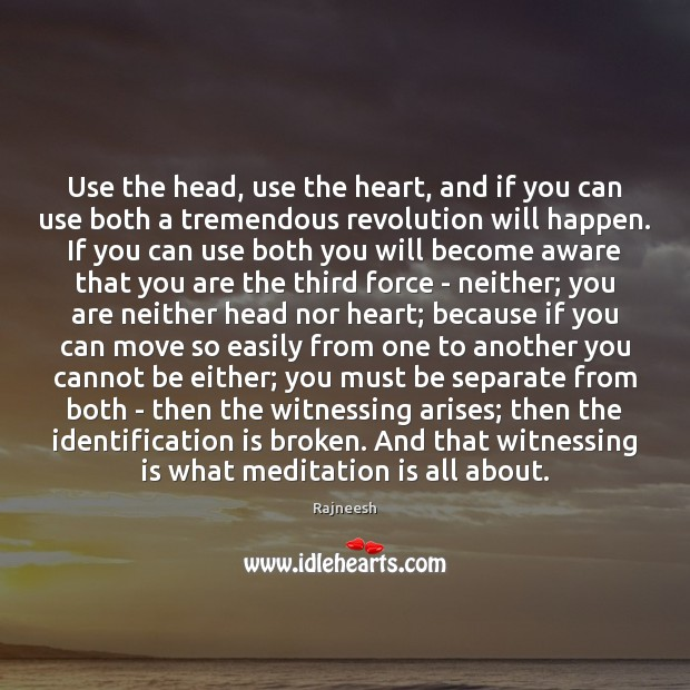 Image, Use the head, use the heart, and if you can use both
