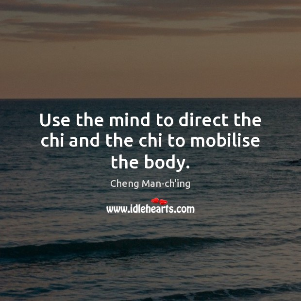 Image, Use the mind to direct the chi and the chi to mobilise the body.