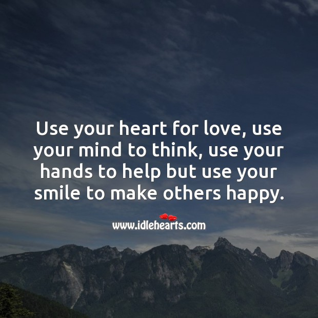 Use your heart for love Image