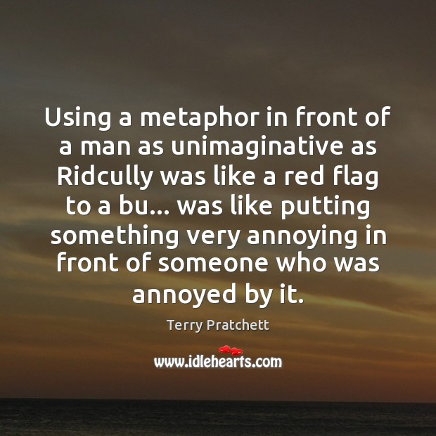 Using a metaphor in front of a man as unimaginative as Ridcully Image