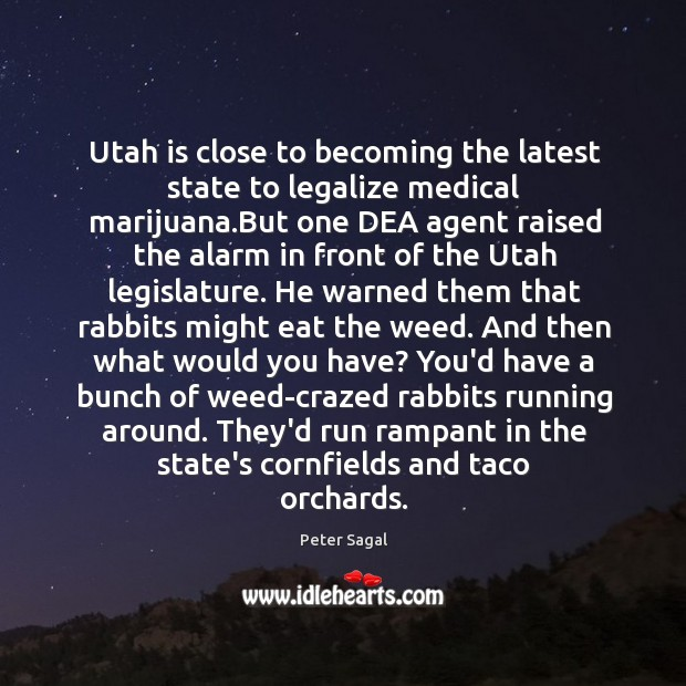 Utah is close to becoming the latest state to legalize medical marijuana. Image