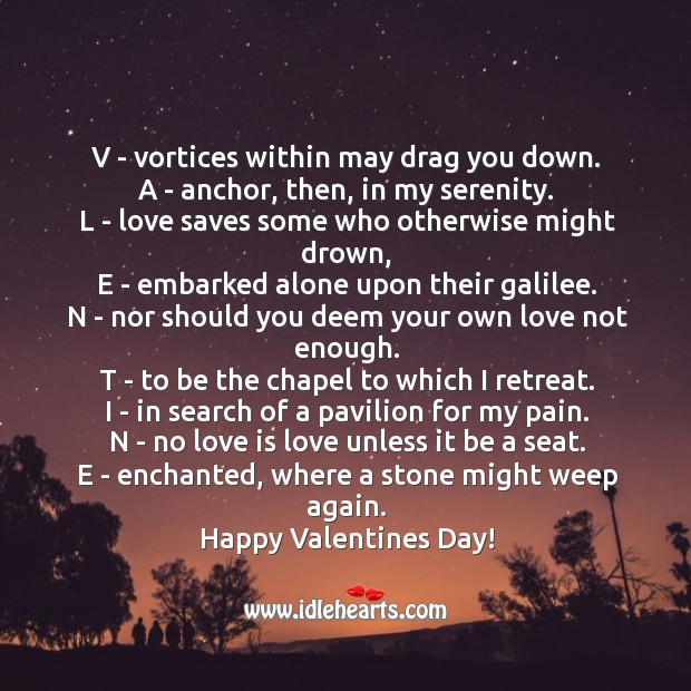 Valentines day means Love Messages Image