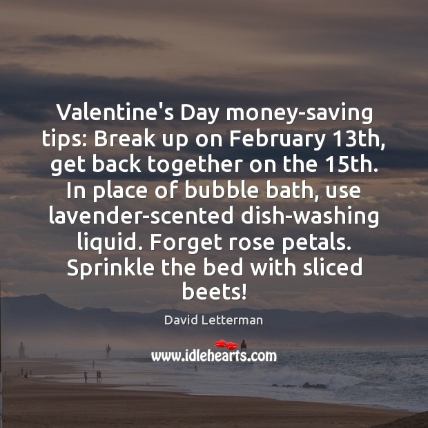 Image, Valentine's Day money-saving tips: Break up on February 13th, get back together