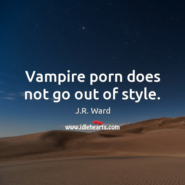 Vampire porn does not go out of style. Image