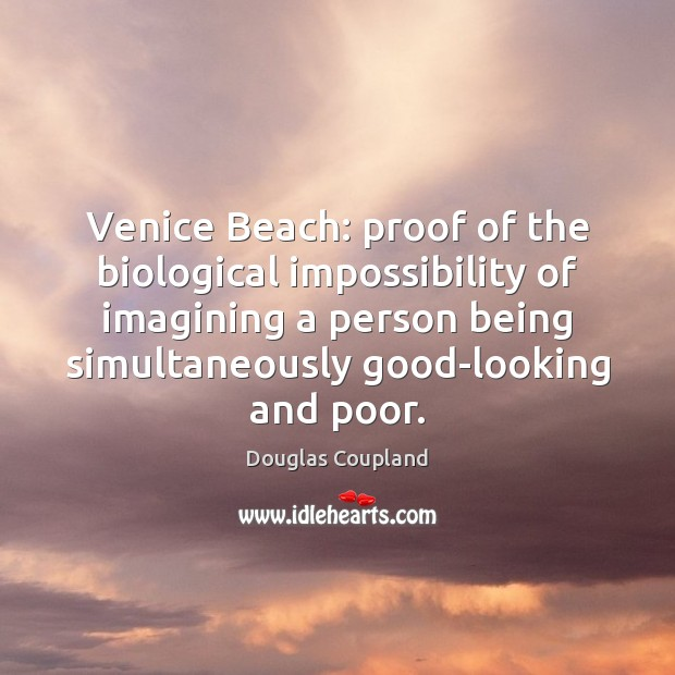 Venice Beach: proof of the biological impossibility of imagining a person being Image