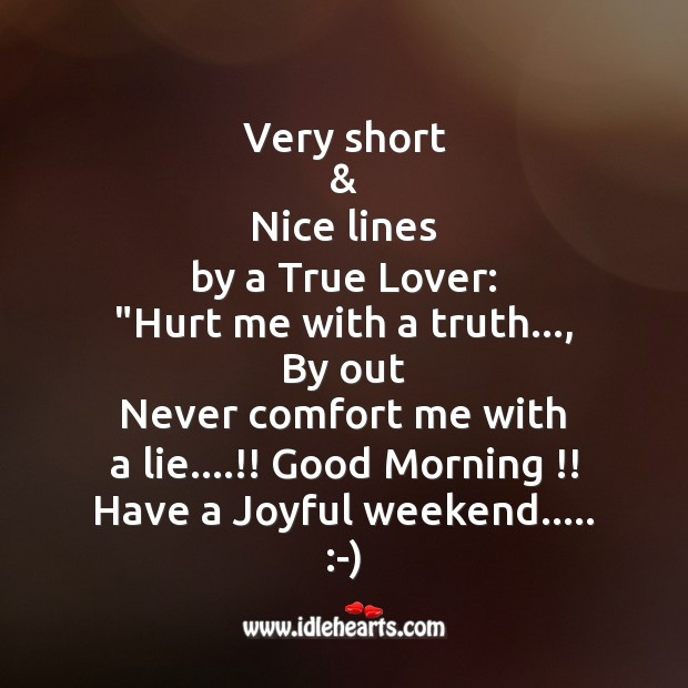 Very short & nice lines by a true lover Image