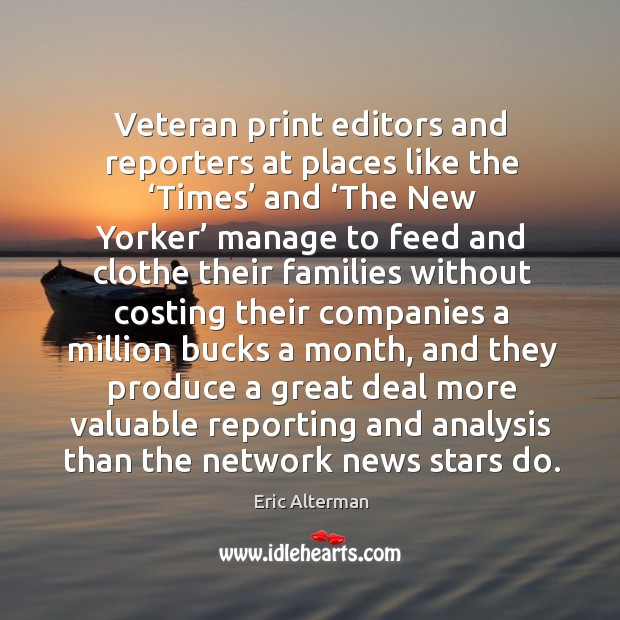 Image, Veteran print editors and reporters at places like the 'times' and 'the new yorker' manage