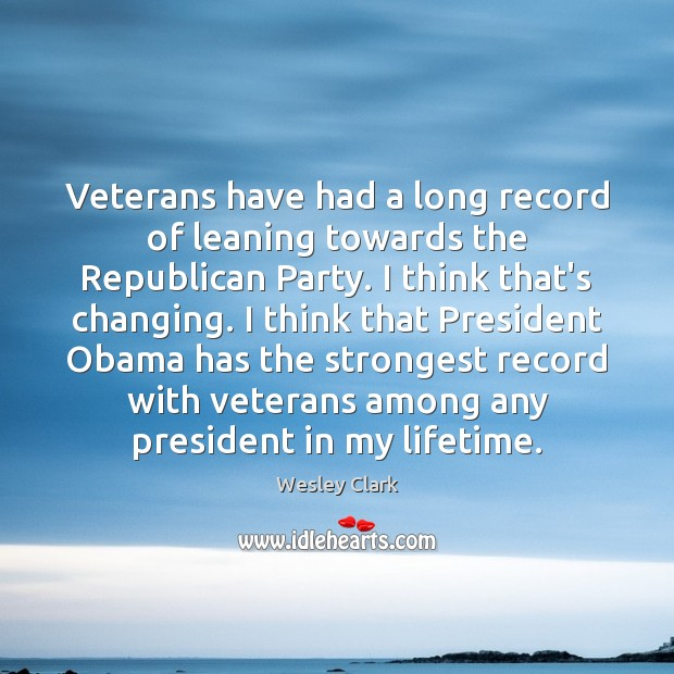Veterans have had a long record of leaning towards the Republican Party. Image