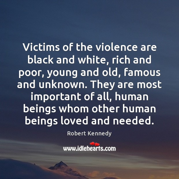 Victims of the violence are black and white, rich and poor, young Image