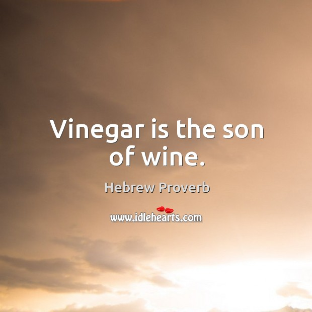 Image, Vinegar is the son of wine.