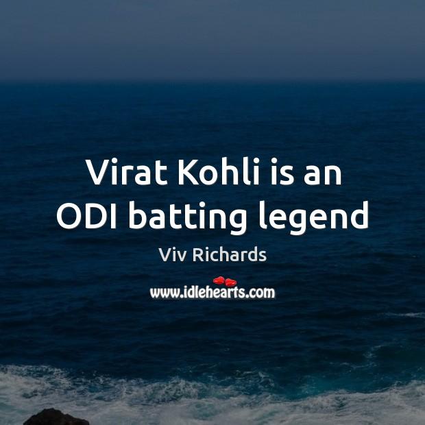 Virat Kohli is an ODI batting legend Image