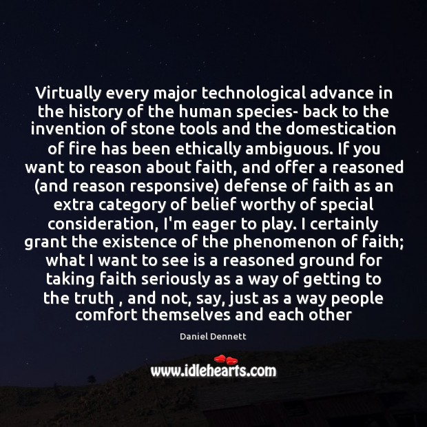 Image, Virtually every major technological advance in the history of the human species-