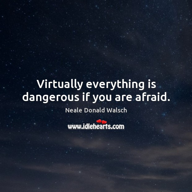Image, Virtually everything is dangerous if you are afraid.