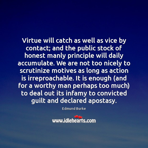 Image, Virtue will catch as well as vice by contact; and the public