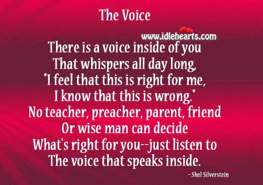 Image, The voice that speaks inside.