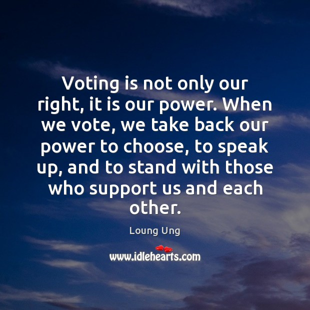 Image, Voting is not only our right, it is our power. When we