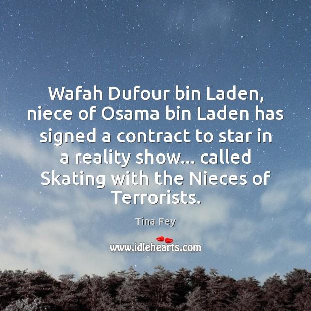 Image, Wafah Dufour bin Laden, niece of Osama bin Laden has signed a