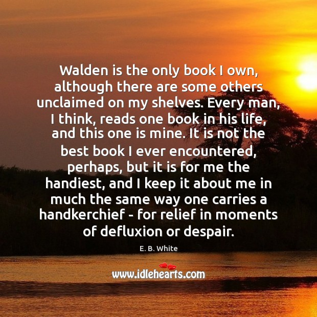 Walden is the only book I own, although there are some others Image