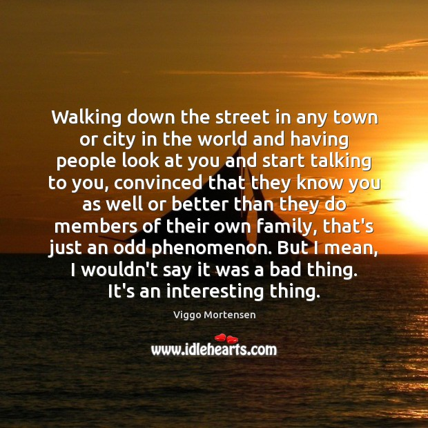 Walking down the street in any town or city in the world Image