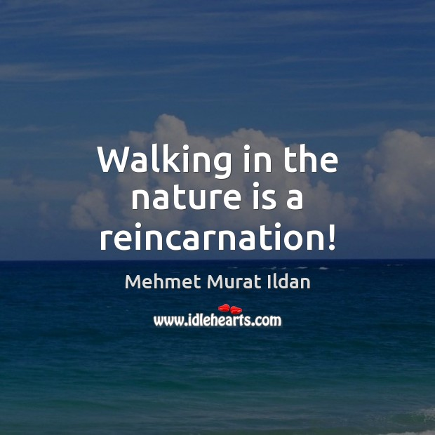 Image, Walking in the nature is a reincarnation!