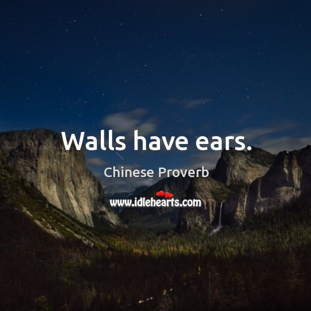 Image, Walls have ears.