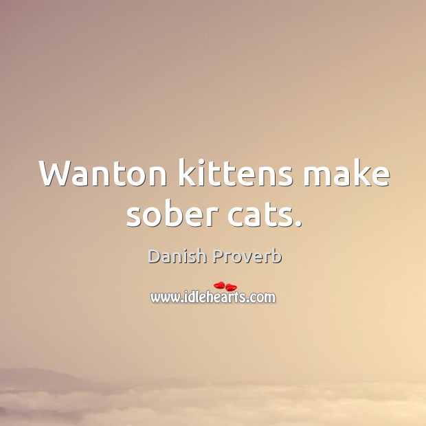 Image, Wanton kittens make sober cats.