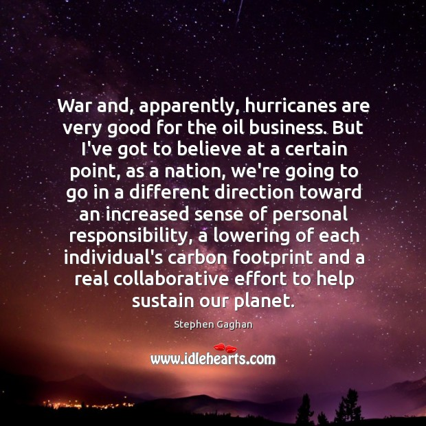 War and, apparently, hurricanes are very good for the oil business. But Image