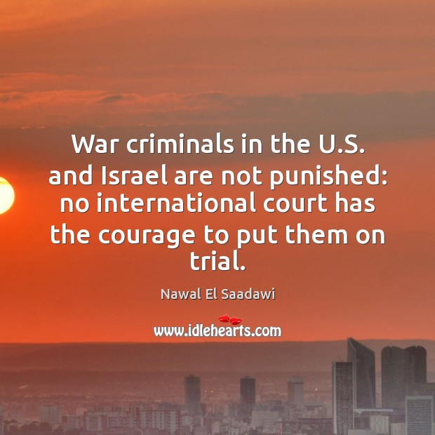 Image, War criminals in the U.S. and Israel are not punished: no