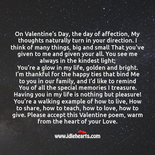 Warm from the heart of your love. Valentine's Day Quotes Image