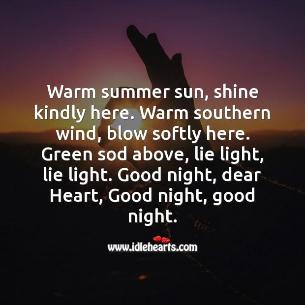 Warm summer sun, shine kindly here. Image