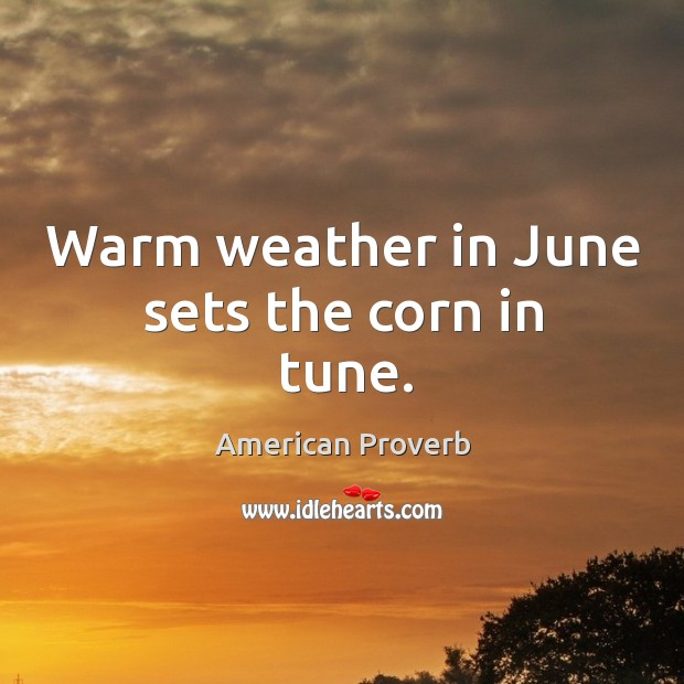 Image, Warm weather in june sets the corn in tune.