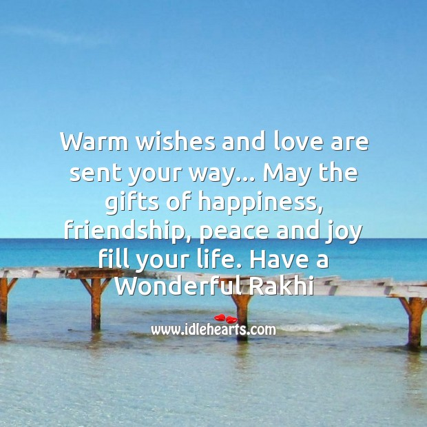 Image, Warm wishes and love are sent your way