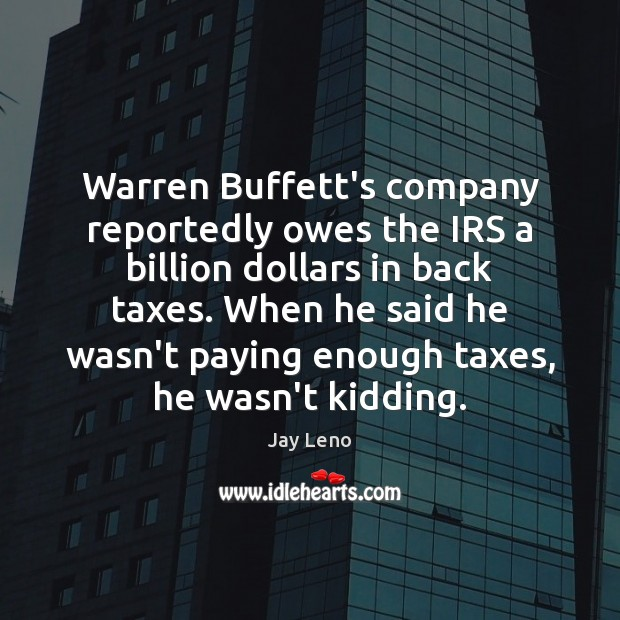 Image, Warren Buffett's company reportedly owes the IRS a billion dollars in back